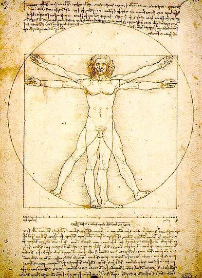image symbolique ldv HOMME DE VITRUVE
